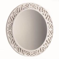 Oglinda ovala cu rama alba 56x48 cm