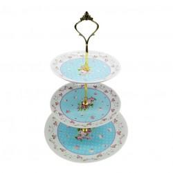 Etajera ceramica bleu 3 niveluri