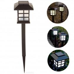 Lampa solara felinar, tip stick, cu 2 leduri