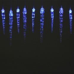 Instalatie cu turturi lumina albastra