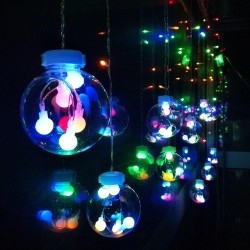 Instalatie globuri cu leduri multicolore 3 m