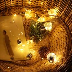 Instalatie cu beculete lumina calda 1.5 m